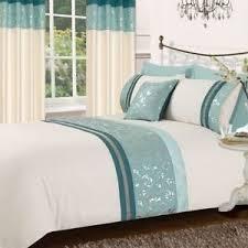 diamante metallic silver red floral duvet quilt cover bedding set