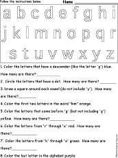 letters follow the instructions enchantedlearning com