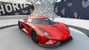 fast furious koenigsegg koenigsegg regara red with carbon hood stripe paint booth