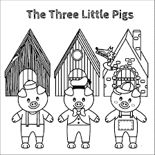 the three little pigs story coloring pages new diaet me