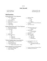 Skill Based Resume Example by Skills Based Resume Examples