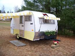 Camper Awnings For Sale Vintage Camper Awning By Sew Country Awnings Yellow White