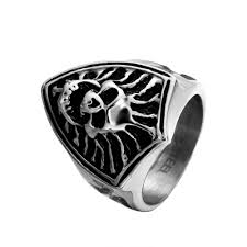 vintage halloween skeleton compare prices on women skull rings online shopping buy low price