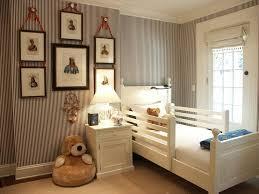 Pottery Barn Kids Bedrooms Traditional Kids Bedroom With Interior Wallpaper U0026 Hardwood Floors