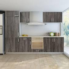 cuisine wengé set de 7 meubles cuisine pour réfrégirateur non fourni wengé