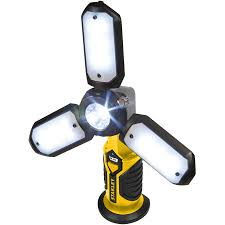 stanley sat3s yellow black satellite rechargeable led work light