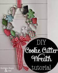 golden boys and me christmas cookie cutter wreath