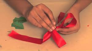 how to make a christmas bow arts and crafts youtube
