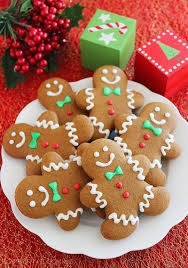christmas cookies gingerbread man christmas lights decoration