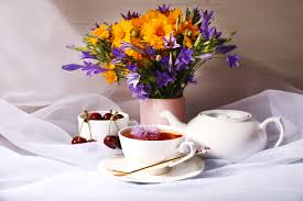 flower still life time nature cups tea hd wallpaper for