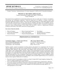 Security Jobs Resume by Job Security Guard Job Resume