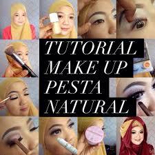 tutorial makeup natural hijab pesta review sederhana tentang muslimah cosmeticstutorial make up natural