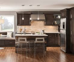 Kitchen Pictures With Maple Cabinets Dark Maple Cabinets In Casual Kitchen Homecrest