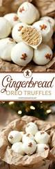these gingerbread oreo truffles are easy holiday treats that are