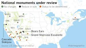 Map Of National Parks In Utah by Here Are The National Monuments Being Reviewed Under Trump U0027s Order