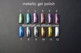 chrome mirror powder pigment gel nails polish varnish at home