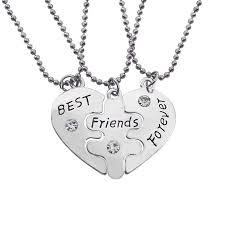best friends heart necklace images Wholesale best friends forever letters broken heart necklace set jpg
