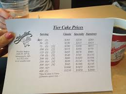wedding cake prices wuollets website doesn t list prices for tiered wedding cake so