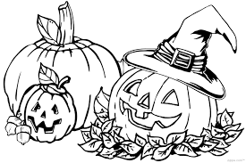 fall halloween coloring page free download