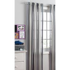 Ombre Sheer Curtains Your Zone Crushed Ombre Curtains Gray Walmart