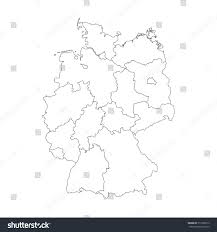 Bremen Germany Map by Map Germany Devided 13 Federal States Stock Vector 517969513