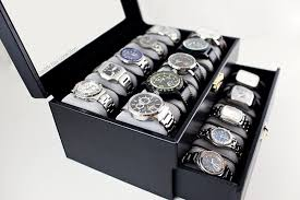 20 Classic Black And White Amazon Com Caddy Bay Collection Black Classic Watch Case Display