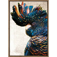 wall art canvas prints tapestry temple webster black cockatoo side grunge printed wall art