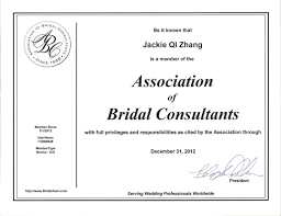 wedding planner certification association of bridal consultants shanghai wedding planner