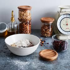 baum glass u0026 wood airtight canisters set of 2 on food52