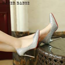 Wedding Shoes Size 9 Silver High Heels Size 9 Promotion Shop For Promotional Silver