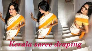 Draping Tutorial Kerala Style Saree Draping Tutorial Youtube