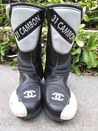 white motocross boots chanel motocross boot u0027s at 1stdibs