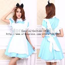 Carnival Halloween Costumes Sale Alice Wonderland Dress Dress Maid Cosplay