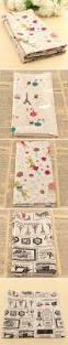 cartoon cotton linen fabric cloth patchwork for diy table cloth