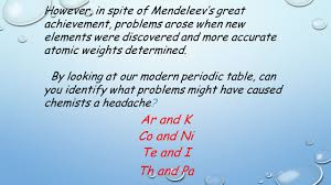 who developed modern periodic table unit 4 the periodic table of elements unit 4 periodic table of