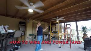 Pergola Ceiling Fan How To Install Outside Ceiling Fans With Conduit Diy