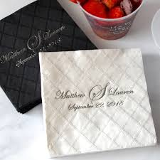 cocktail napkins personalized embossed my wedding