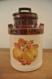 vintage kitchen canister set ceramic milk jug style made in u s a
