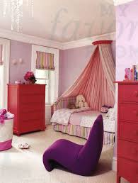 red bedroom for girls with canopy feel like princess room