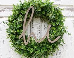 hello wreathboxwood wreath front door wreathyear