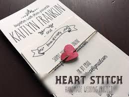 handmade wedding invitations handmade heart stitch belly band