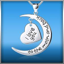 I Love You To The Moon And Back Personalized Necklace I Love You To The Moon And Back Heart Charm Necklace