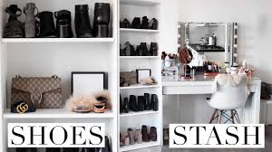 my shoe collection u0026 shoe closet tour pinterest inspired youtube