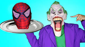 joker serves spiderman head on a platter w peppa pig hulk