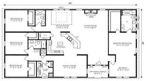 bedroom four house plans one story floor single great for well
