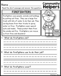 community helpers reading comprehension passages by kaitlynn albani