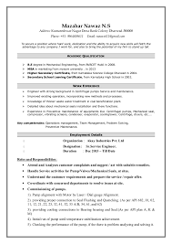 Technology Manager Resume Mechanical Maintenance U0026 Operation Engineer