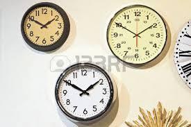 Office Wall Clocks Twelve Business Wall Clocks Blue Aqua Color Stock Photo Picture