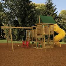 Heartland Swing Set Amazon Com Playstar Playsets Ready To Assemble Great Escape Gold