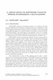 application of software tools in power engineering calculations